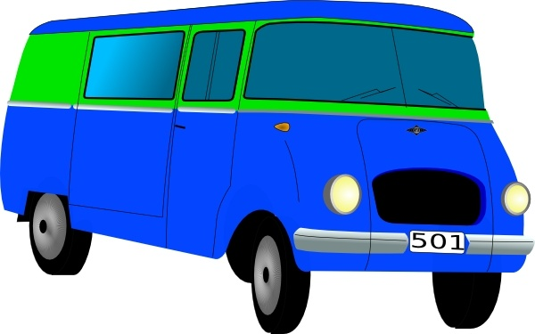 600x375 Mini Bus Clip Art Free Vector In Open Office Drawing Svg ( Svg