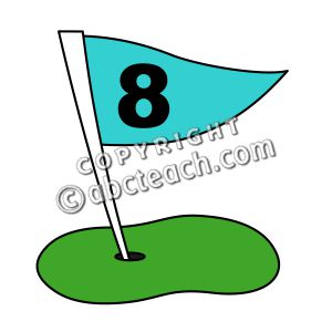 300x300 Funny Golf Flag Clipart