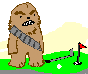 300x250 Chewbacca Plays Miniature Golf