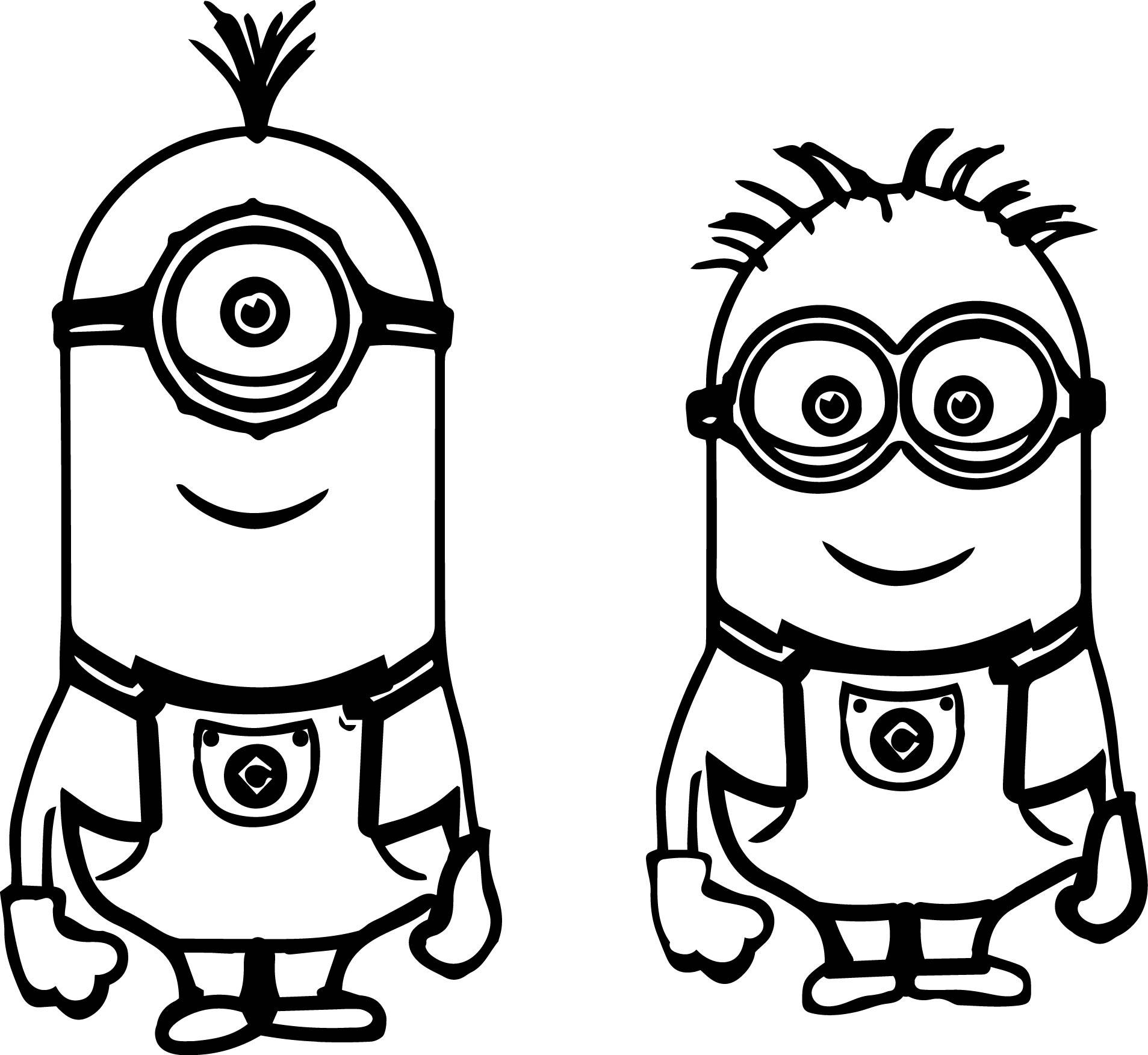 It is a graphic of Exceptional Minions Coloring Sheet