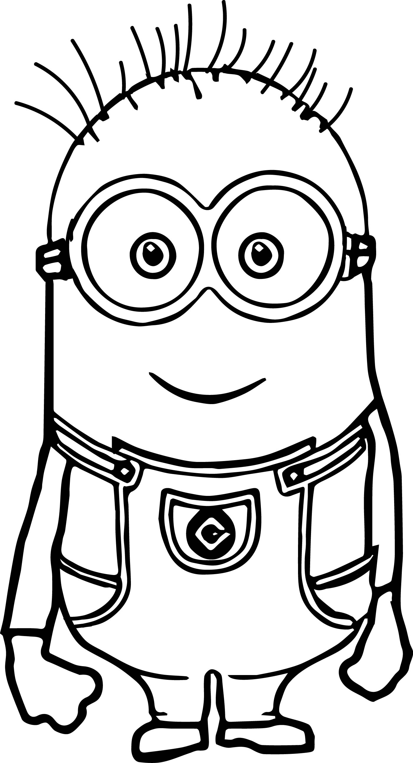 1401x2585 Cute Basic Minion Coloring Page Wecoloringpage