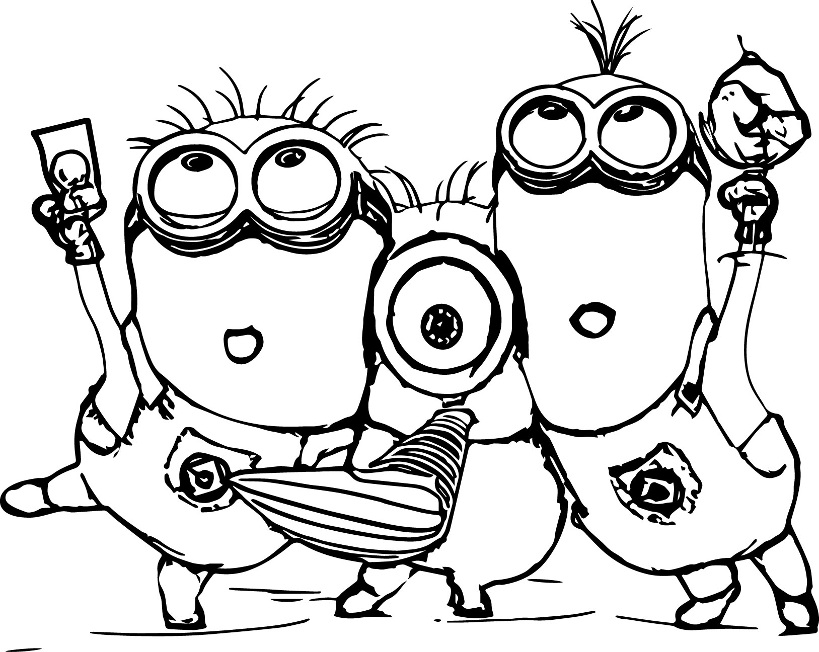 1627x1296 despicable me 2 minions coloring page wecoloringpage - Despicable Me Coloring Pages Free 2