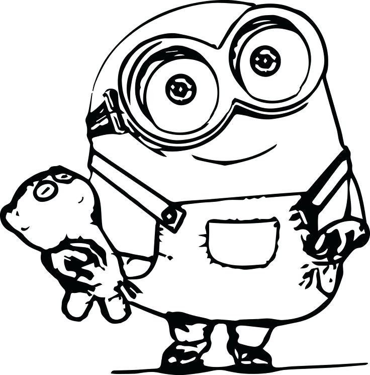 736x745 despicable me minion coloring pages dave simple minions in best