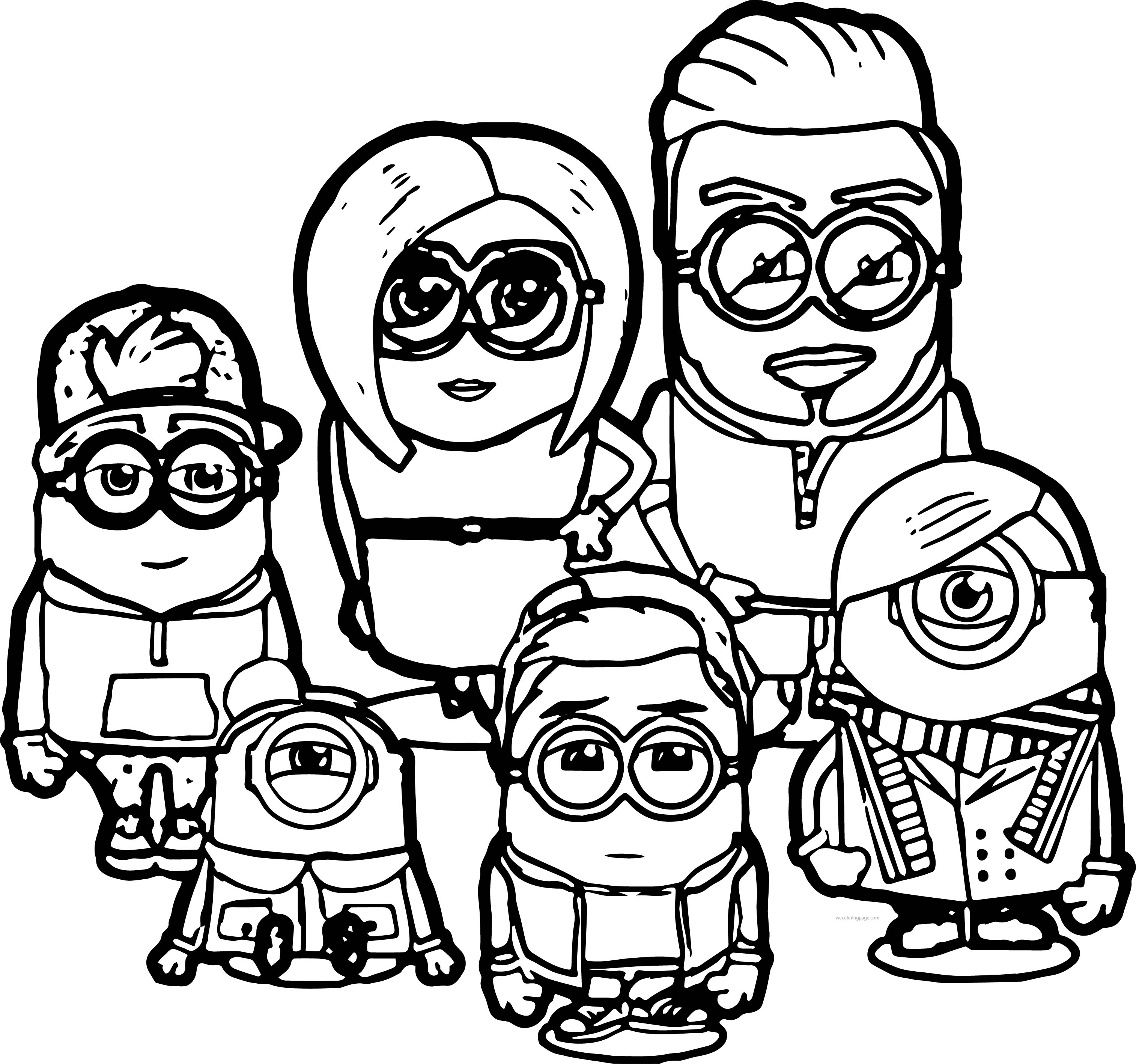 Minion Coloring Pages Free download
