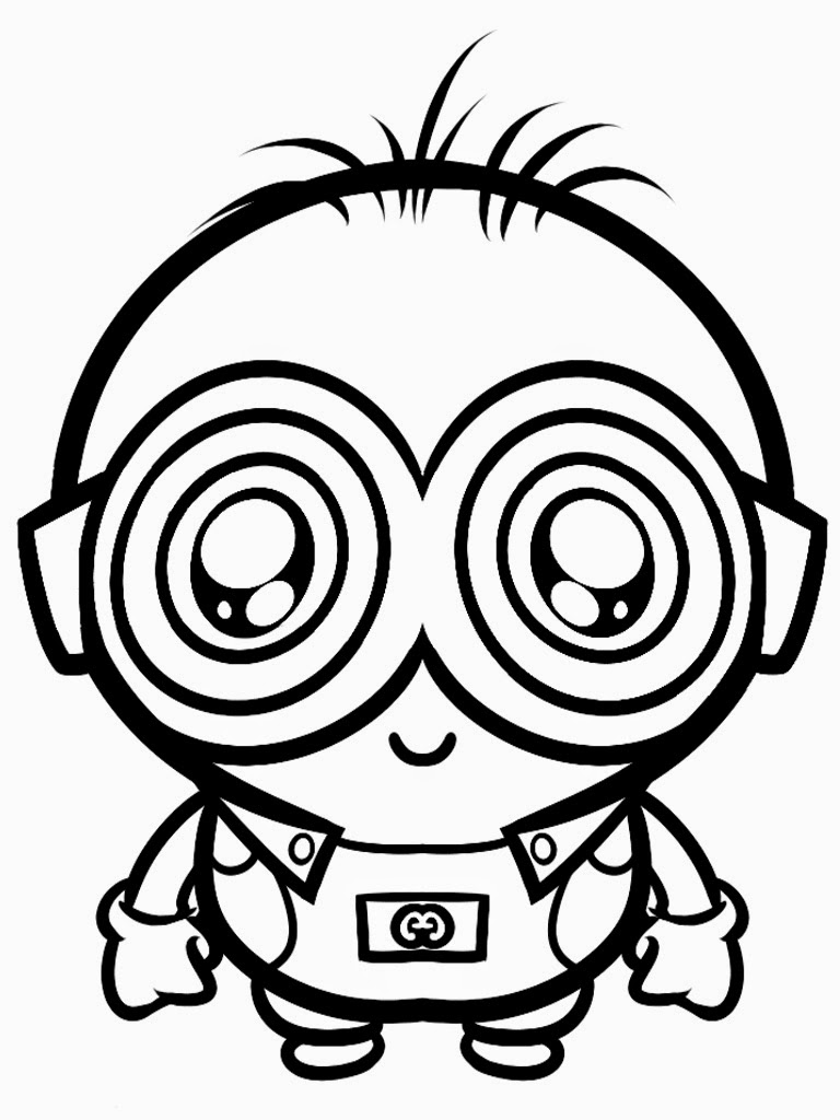 768x1024 Funny Cartoon Minion Coloring Pages