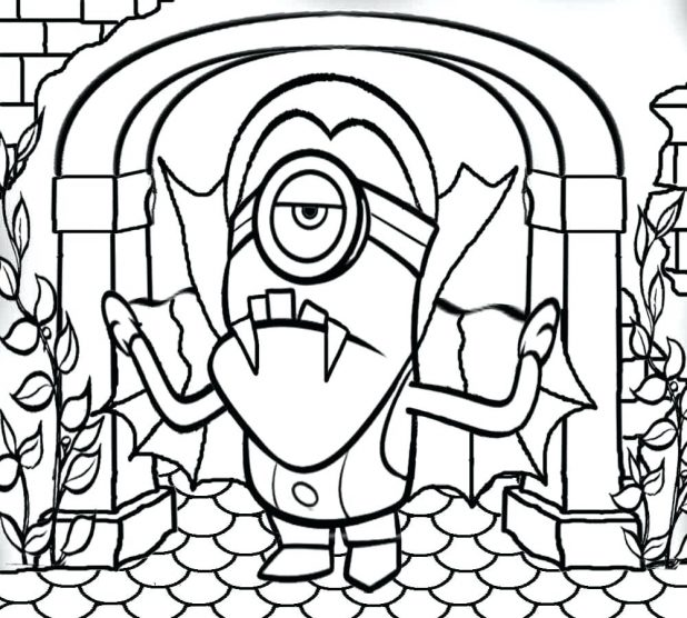 Dispicable Me Coloring Pages Despicable Me 2 Minions
