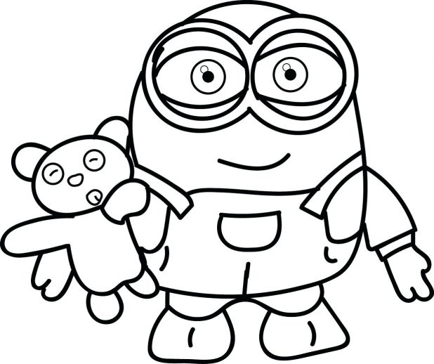 618x518 Minion Colouring Pages Coloring Minions 140 Extraordinary Color