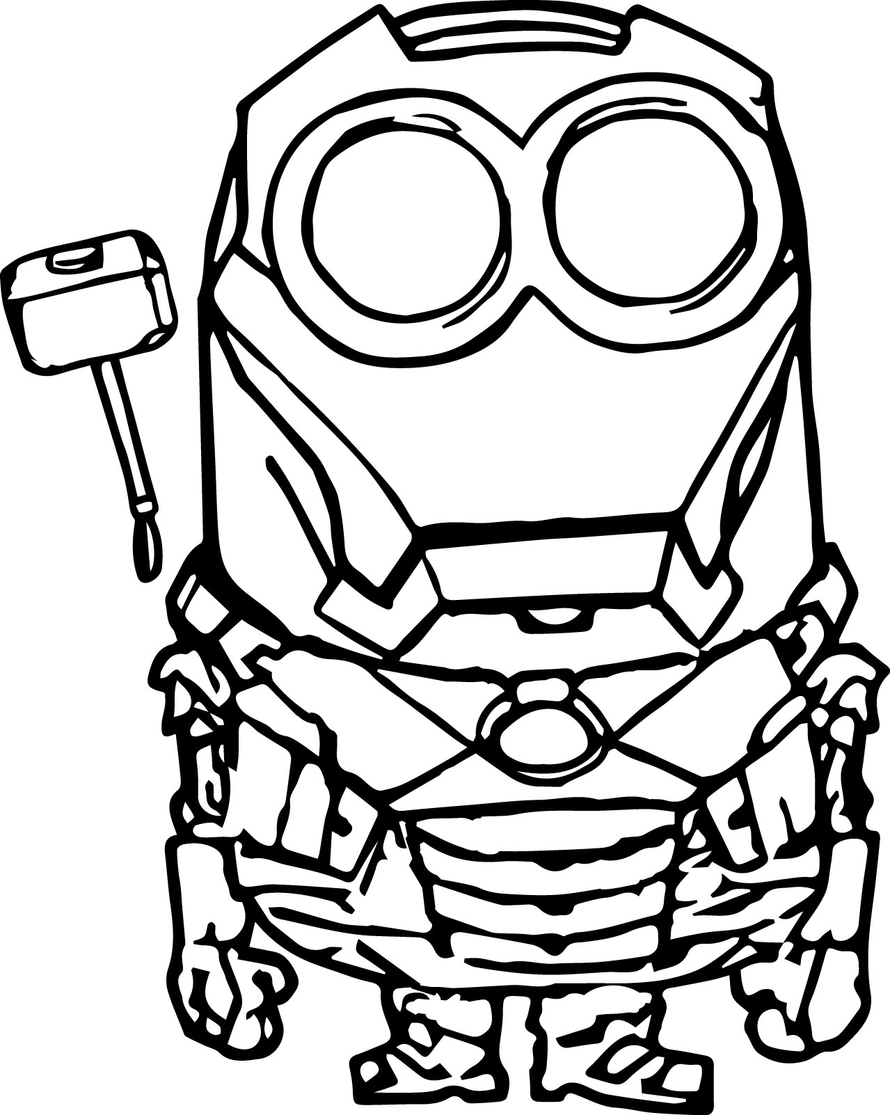 200x313 Minions Coloring Printables Download Minion Pages 1279x1602 Robot Page Wecoloringpage