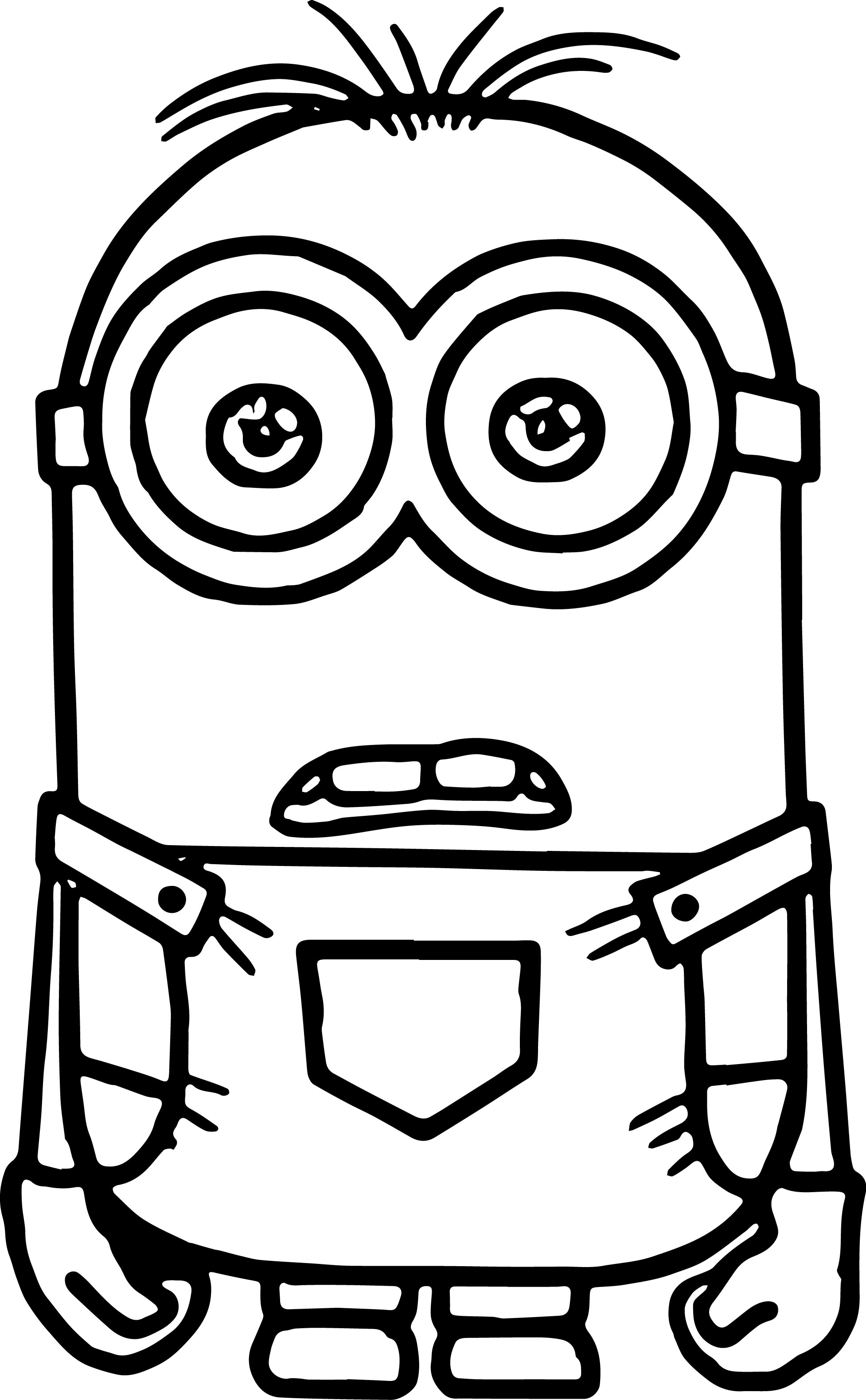 graphic about Minions Printable Coloring Pages referred to as Minion Coloring Webpages Totally free down load least complicated Minion Coloring