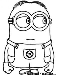 232x300 27 Best Minions Coloring Pages Free Images Draw