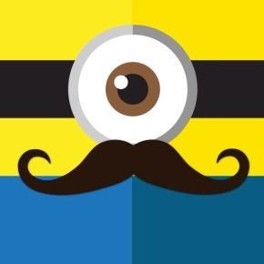 290x290 Mustache Minion Mustaches Bday Party Ideas
