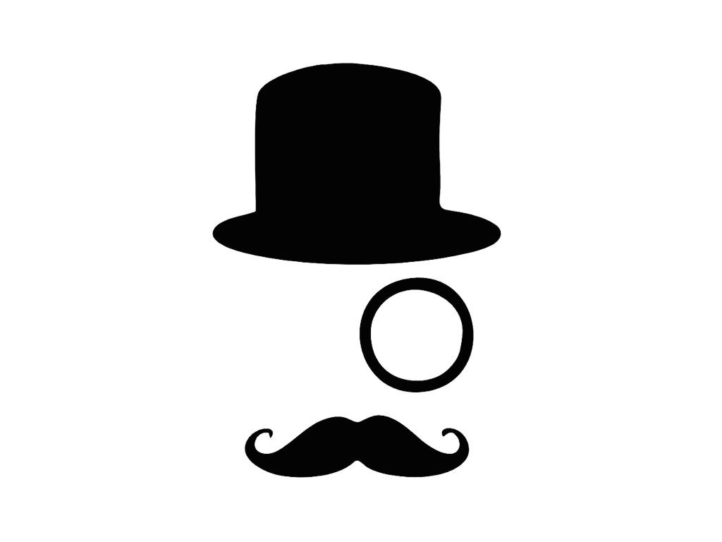 1024x768 Mustache Pictures Tophat Monocle And Mustache Vinyl Decal