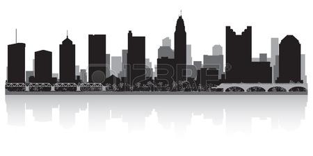 450x225 Columbus Usa City Skyline Silhouette Vector Illustration Royalty