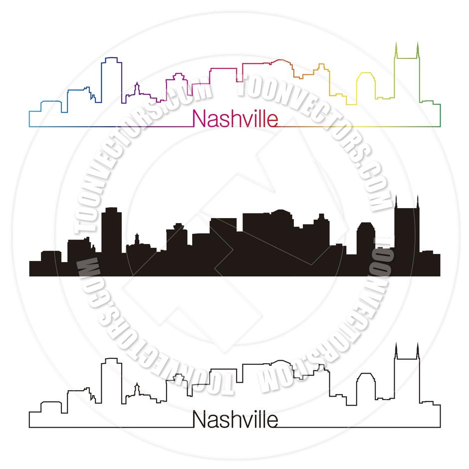 940x940 Nashville Tennessee Free Clip Art Nashville Skyline Linear Style