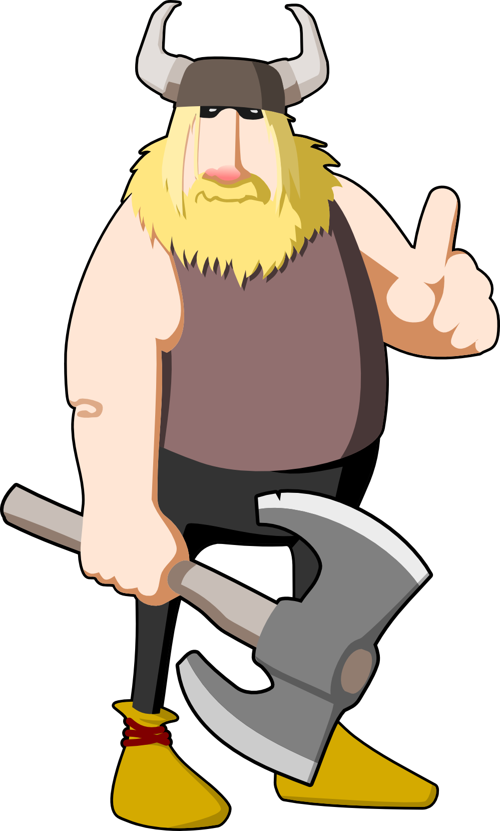 999x1659 Cartoon Minnesota Vikings Clipart
