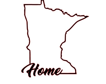 340x270 Minnesota Outline Etsy