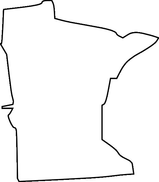 522x596 White Minnesota State Clip Art