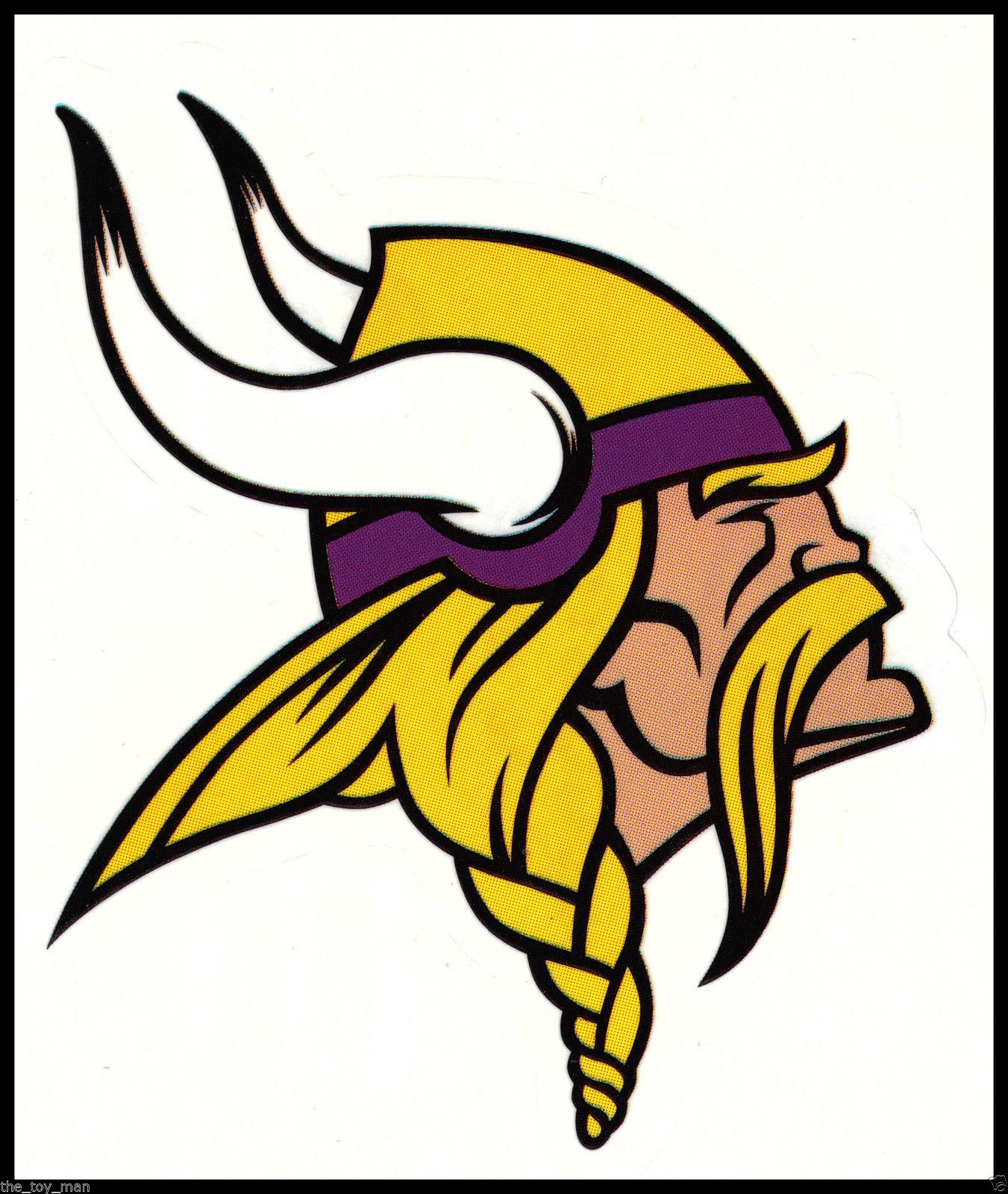 1351x1600 Minnesota Vikings Nfl Team Logo License Football Indoor Decal