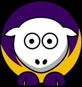 285x299 Sheep 3 Toned Minnesota Vikings Colors Clip Art