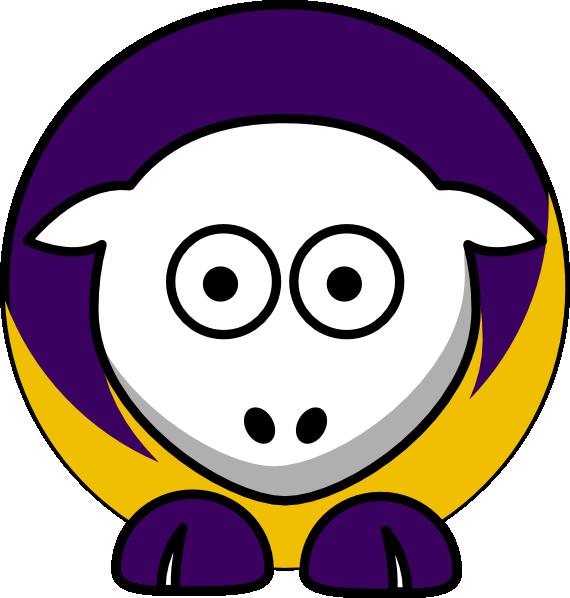 570x598 Sheep 3 Toned Minnesota Vikings Colors Clip Art