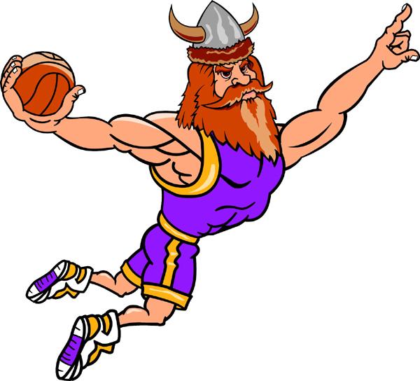600x544 Viking Clipart Basketball