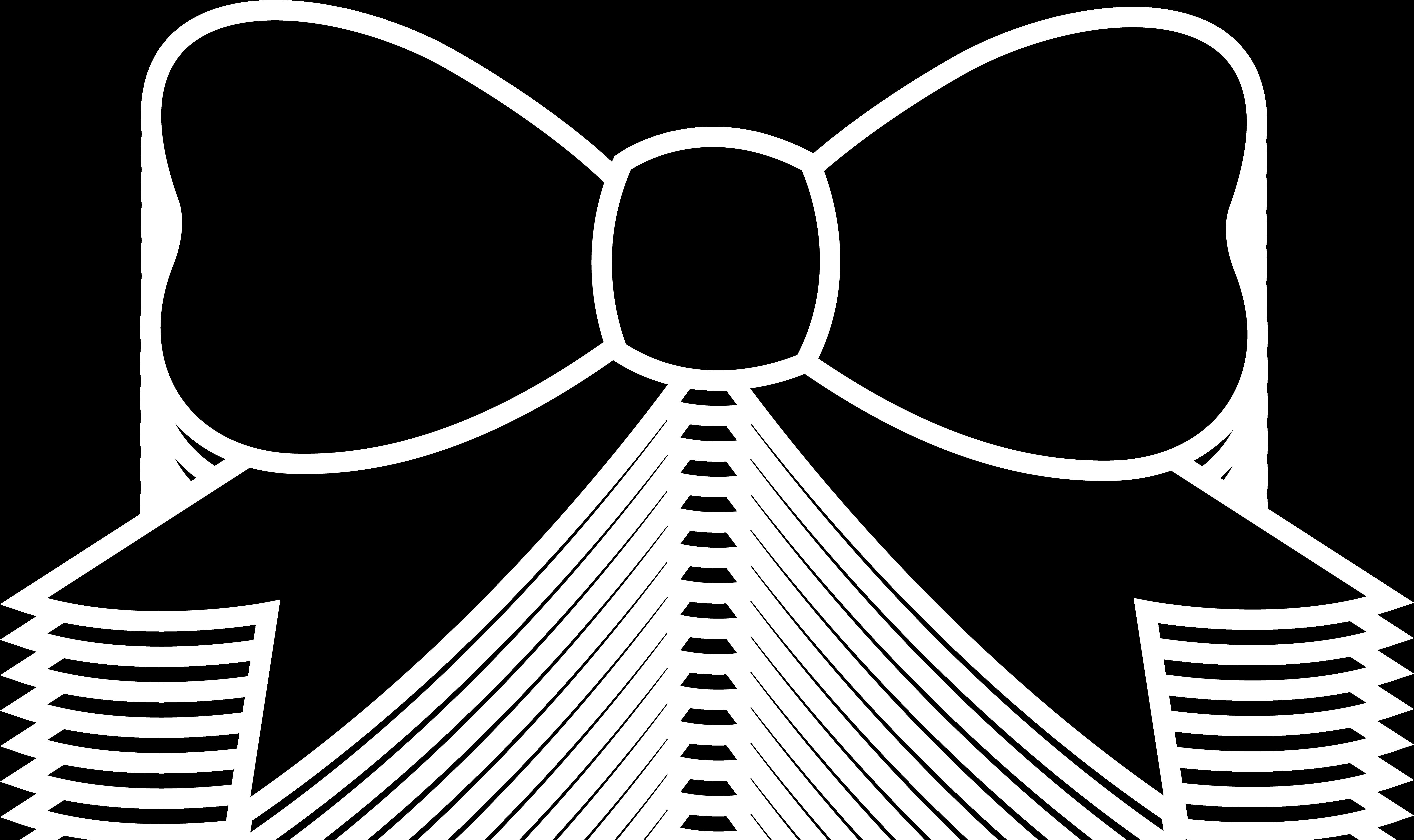 7212x4286 Bow Silhouette Clip Art
