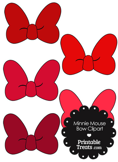 400x550 Red Minnie Mouse Bow Clipart