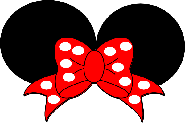 600x400 Red Minnie Mouse Bow Clipart