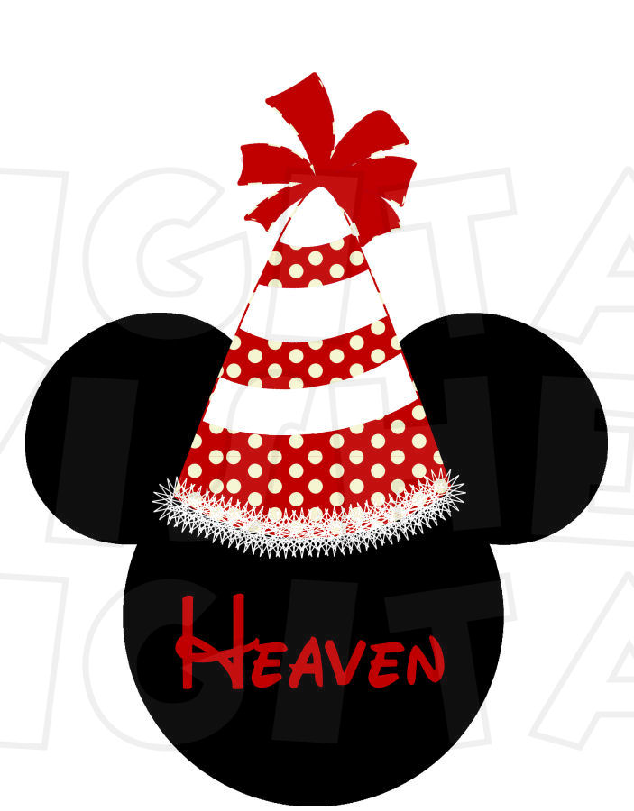 703x900 Birthday Hat Minnie Mouse Head Instant Download Digital Clip Art