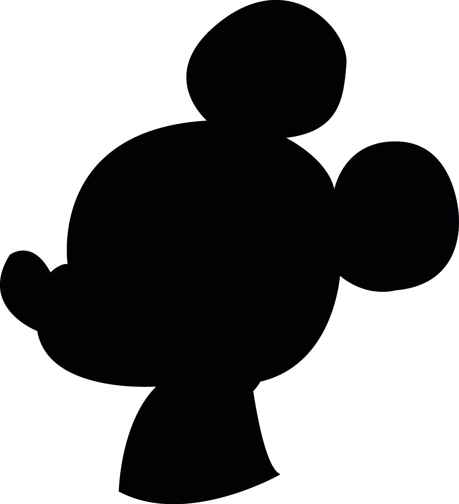 1504x1654 Mickey Mouse Silhouette Clip Art