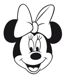 236x276 Minnie Mouse Face Clipart Black And White