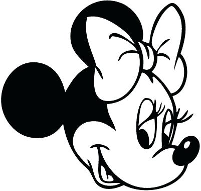 401x380 Minnie Mouse Outline