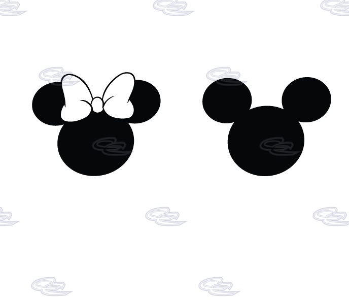 688x591 Mickey And Minnie Mouse Silhouette Collection
