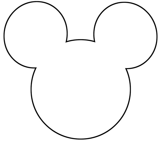 686x600 30 Images Of Mickey Mouse Head Template Printable