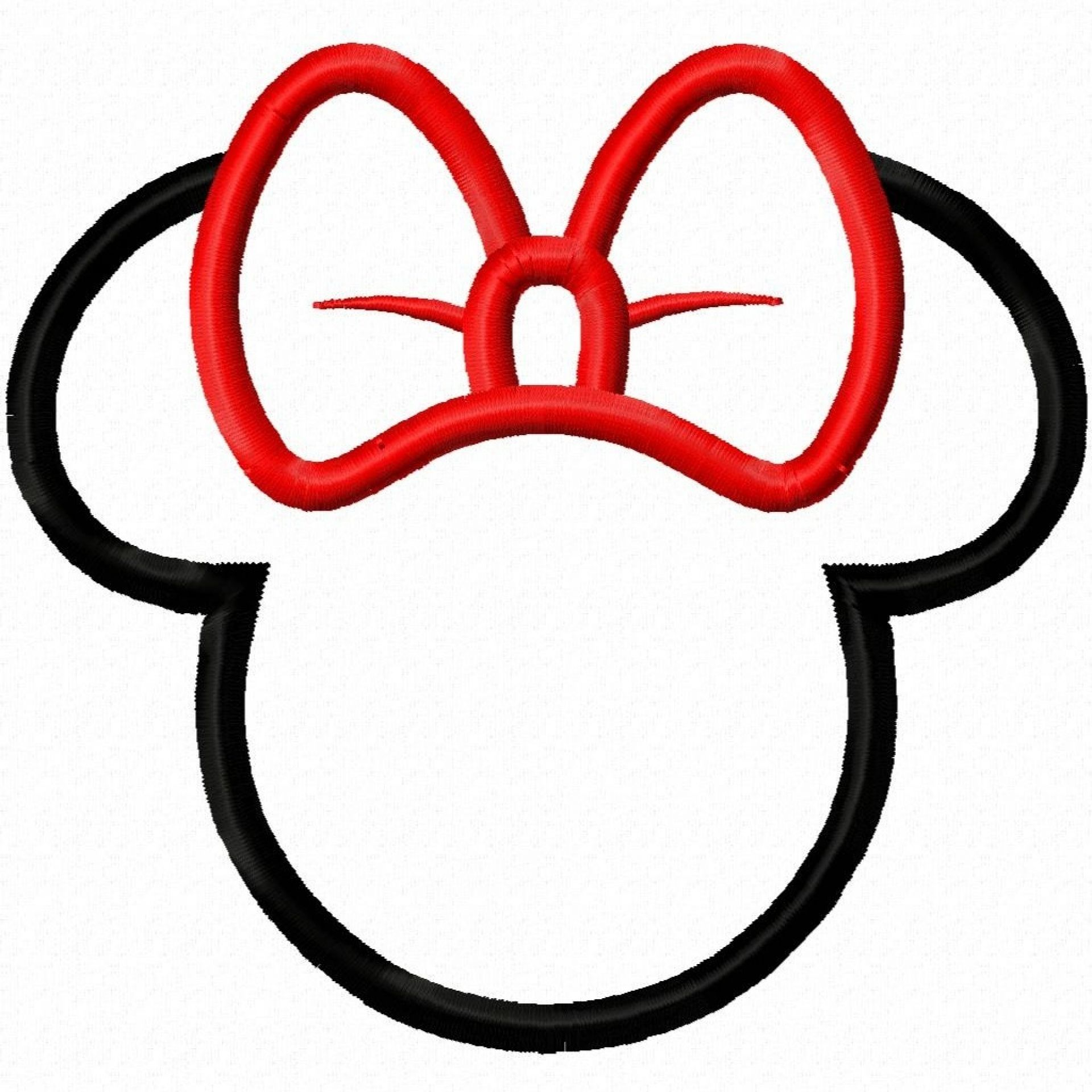 1920x1920 Minnie Mouse Coloring Pages Digi Dolls Girl Bow Mouse Head