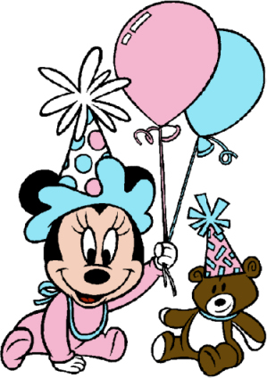 299x424 Mickey Mouse 1st Birthday Clipart