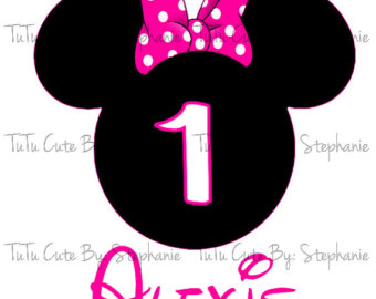 340x270 1st Birthday Minnie Mouse Clipart