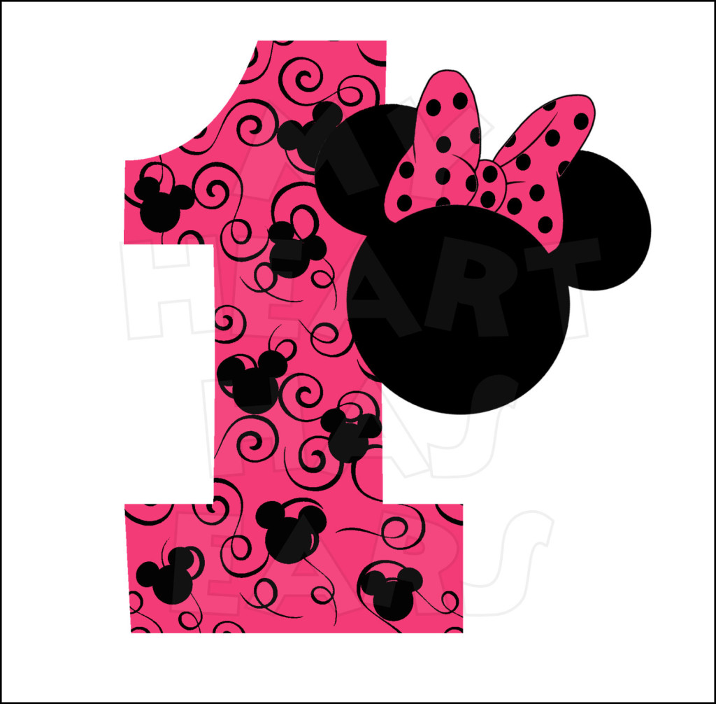 1024x1006 Minnie Mouse 1st Birthday Pink Instant Download Digital Clip Art