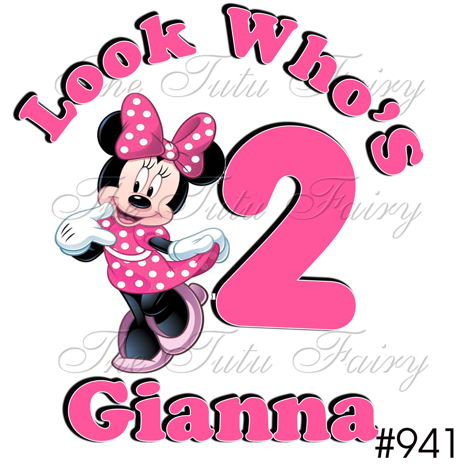 1500x1500 Minnie Mouse 2nd Birthday Clipart