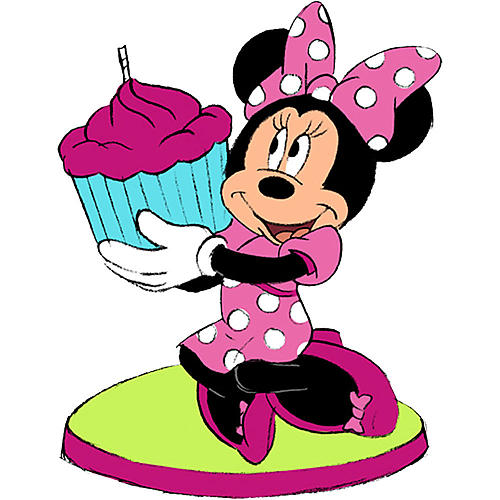 500x500 Minnie Mouse Birthday Candle Clipart Panda