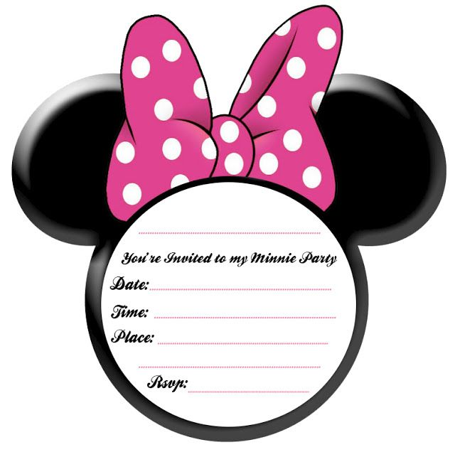 580x448 Minnie Mouse Invitations Templates Free Pink Birthday 1 640x636 11 Best Pipers New Room Images Drawings Shrink