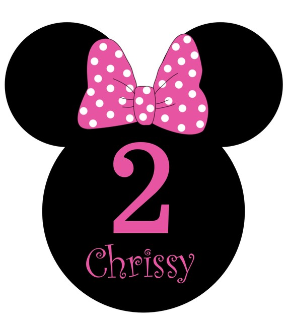 570x637 Custom Minnie Mouse Birthday Party Invitations Personalized