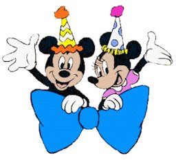 256x233 Mickey And Minnie Birthday Clipart