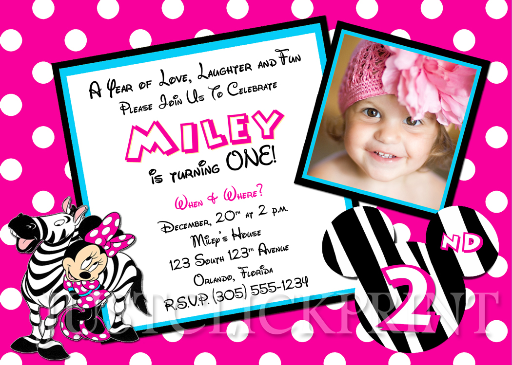 1050x750 Minnie Mouse Birthday Invitations Ideas Best Invitations Card Ideas