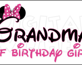 340x270 Minnie Mouse Ears Mama Of The Birthday Girl Pink Digital Iron