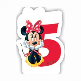 265x265 No 5 Disney Minnie Birthday Candles