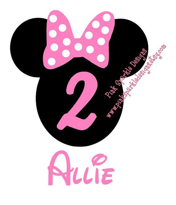 570x665 Pink Hair Clipart Minnie Mouse 2nd Birthday