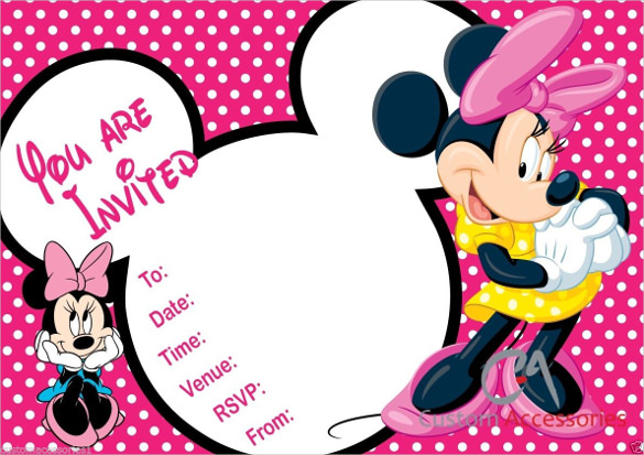 585x413 Minnie Mouse Invitation Templates 23 Minnie Mouse Birthday