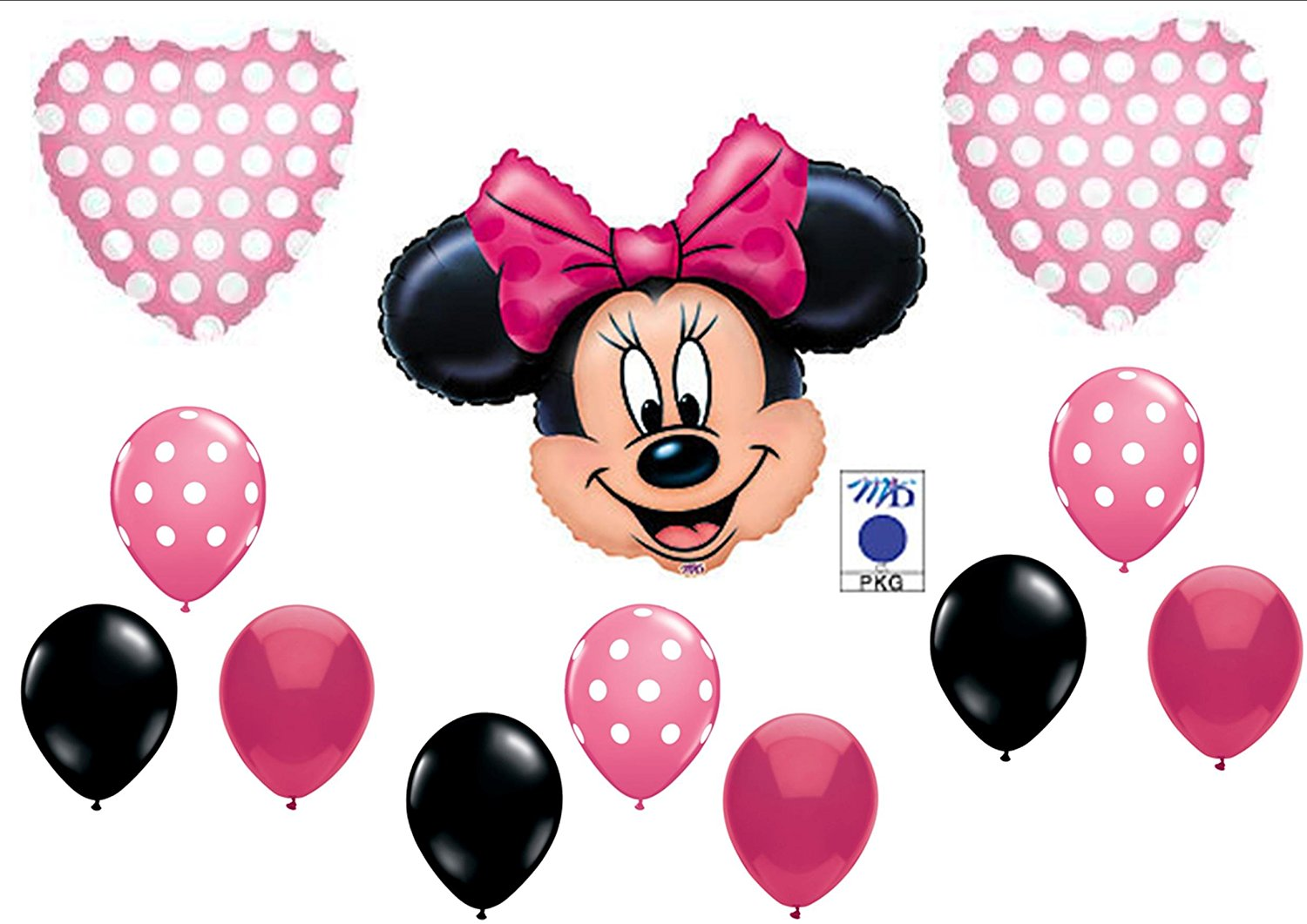 1500x1061 Pink Minnie Mouse Birthday Party Balloons Decorations