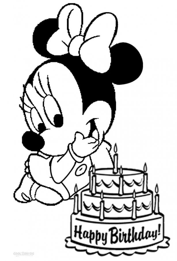 615x907 Film Mickey Mouse Birthday Coloring Pages Minnie Mouse Pictures